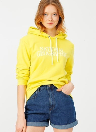 National Geographic Sweatshirt Sarı